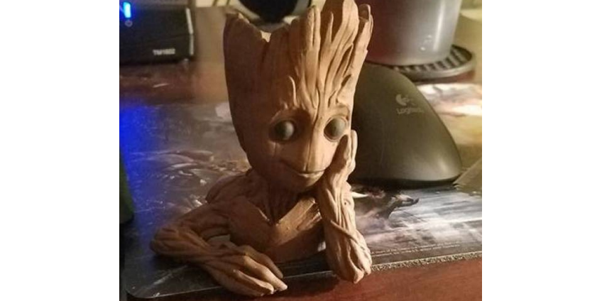 Cuteness personified with 3d printed Baby Groot but where is it now ?