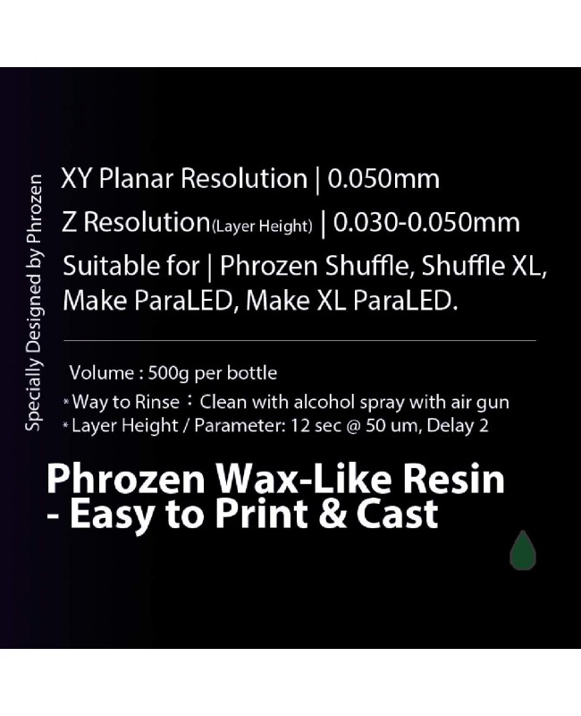Phrozen Wax-Like Resin, DARK GREEN (500G)